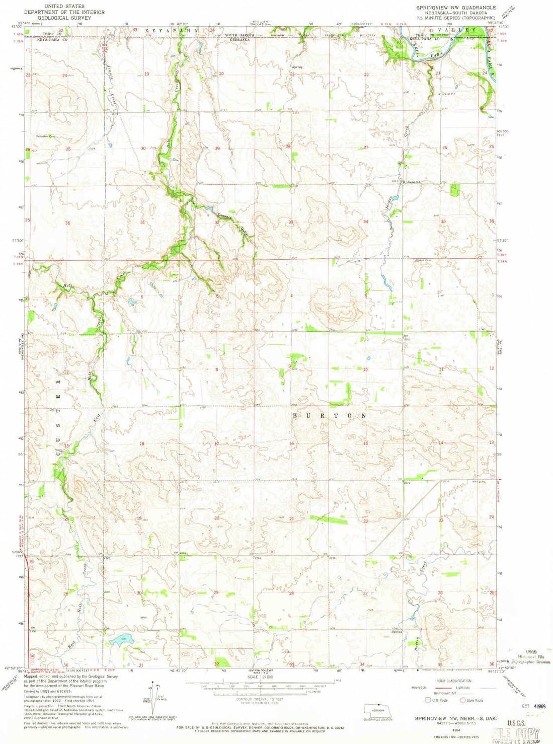 Ranking TOP13 YellowMaps Springview NW NE topo Bargain map X 1:24000 7.5 Scale M