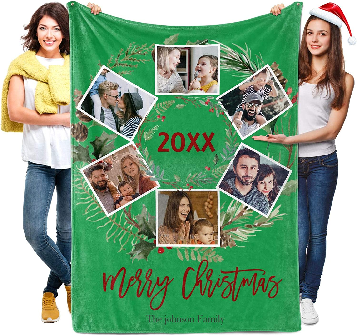 Custom Blanket with 1-9 It is very popular Photo Text Coll Flannel SEAL limited product or Personalized