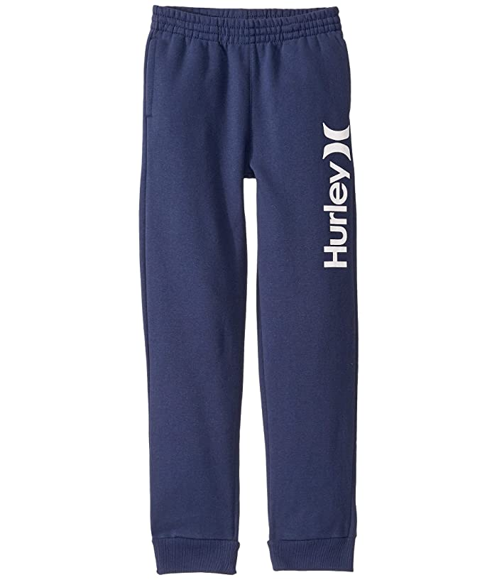 Hurley Kids  Sueded Fleece One and Only Jogger Pants (Big Kids) (Midnight Navy) Boys Casual Pants