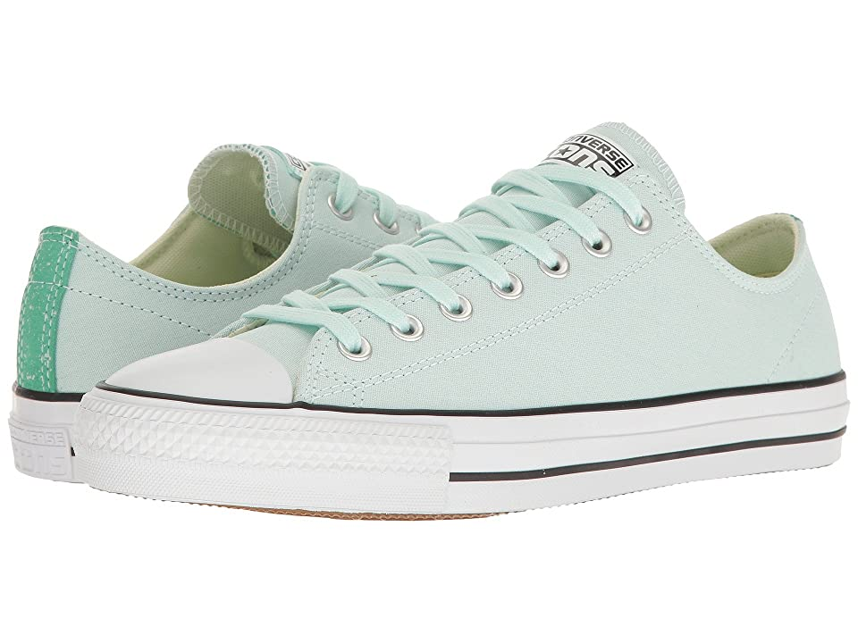 Converse Chuck Taylor(r) All Star(r) Pro Suede Backed Canvas Ox (Fiberglass  Green Glow Black) Men s Skate Shoes 65039db8f