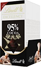 Lindt EXCELLENCE 95% High Cocoa Chocolate Bar, 2.8 oz, 12 Pack