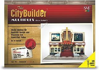 The CityBuilder MULTIPLEX Low Relief LED Cinema Cardboard Model Making Kit - O Scale Model Railroad Building