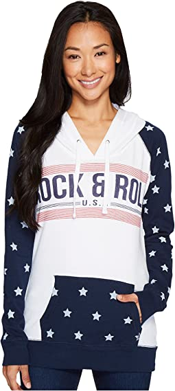 Rock and Roll Cowgirl - Long Sleeve Pullover Hoodie 48H3536