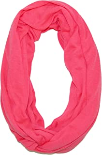 CTM Women's Solid Infinity Loop Scarf with Hidden Zipper Pocket