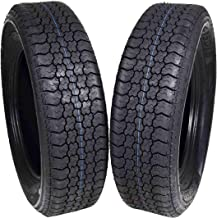 MASSFX ST205/75D15 Bias 6 Ply Trailer Tire Set of 2 Tires 205/75-15