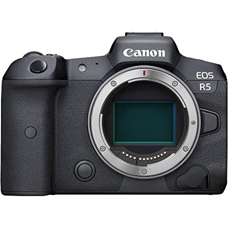 Canon EOS R5 Full-Frame Mirrorless Camera with 8K Video, 45 Megapixel Full-Frame CMOS Sensor, DIGIC X Image Processor, Dual Memory Card Slots, and Up to 12 fps Mechnical Shutter, Body Only