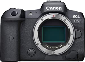 Canon EOS R5 Full-Frame Mirrorless Camera with 8K Video, 45 Megapixel Full-Frame CMOS Sensor, DIGIC X Image Processor, Dua...