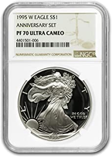 1995 w silver eagle proof 70 for sale