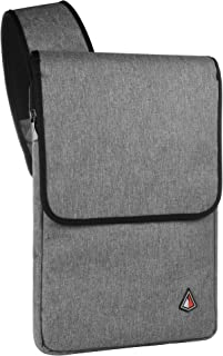 Cross Body Water Resistant 13-14 inch Laptop Sleeve Shoulder Bag for All MacBook Air Pro 13 inch Chromebook Ultrabook (Dark Gray)