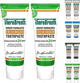 خمیر دندان خامه ای نفس تازه TheraBreath ، طعم نعناع خفیف ، 4 لوله اونس (بسته 2)