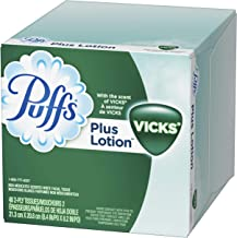Puffs Plus Lotion with Vicks Facial Tissues, 24 Cubes, 48 Tissues per Cube