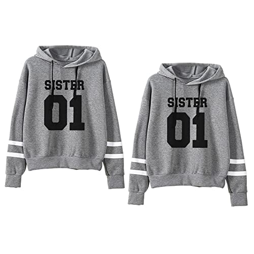 2bd8f405dc2f9 JINT Best Friends Hoodies Sister 2 Pack BFF Couple Hooded Sweatshirt For  Teen Girls