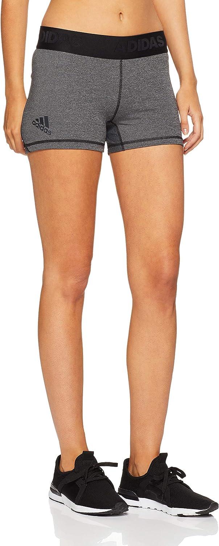 Adidas Alphaskin Women's Sport Shorts (Dark Grey Heather Black, S)