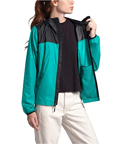 The North Face Cyclone Jacket (Jaiden Green/TNF Black) Women