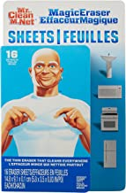 Mr. Clean Magic Eraser Sheets, Cleaning Wipes for Hard to Reach Spaces, 16 Count (Pack of 3)