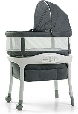 Graco Sense2Snooze Bassinet with Cry Detection Technology   Baby Bassinet Detects and Responds to Baby's Cries to Help Soothe