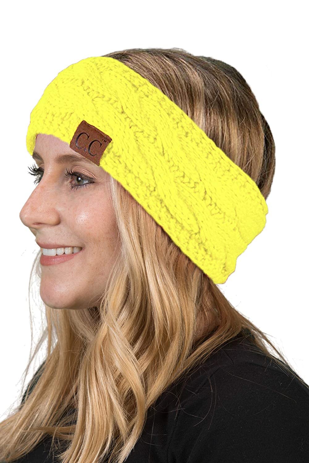Solid Headwrap - Neon Yellow