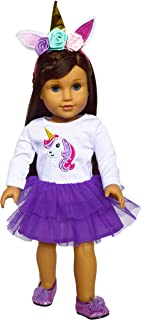 Brittany's American Purple Unicorn Outfit Fits 18 Inch Girl Dolls- Doll Clothes