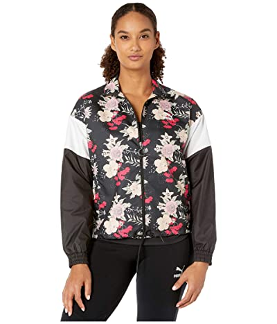 PUMA Trend All Over Print Woven Jacket (Black Floral) Women