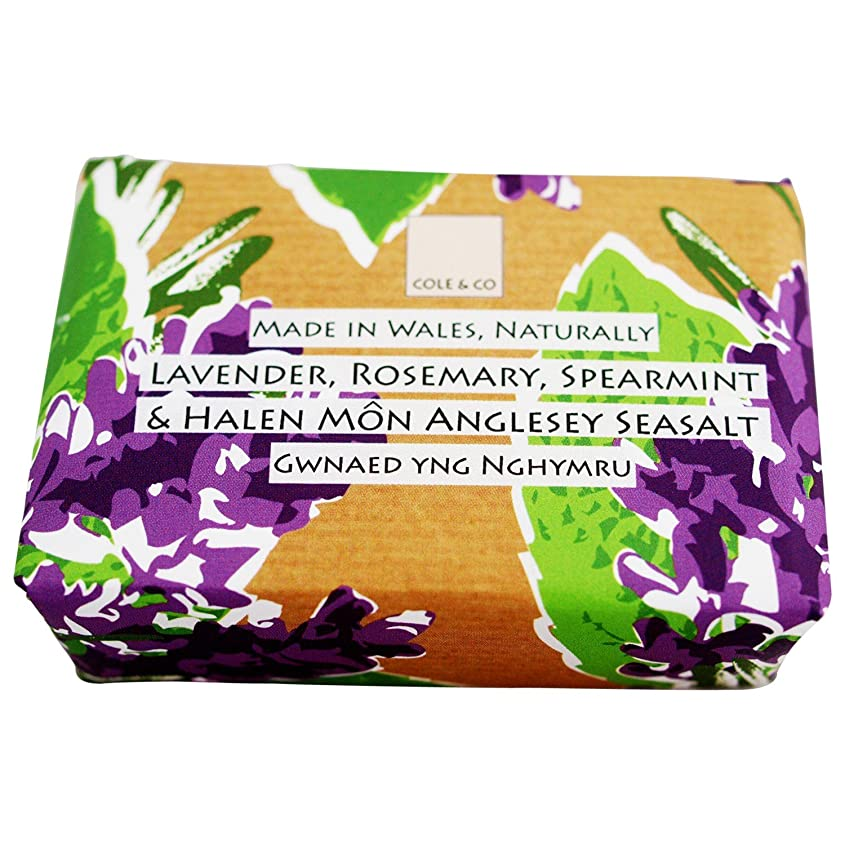 出席付録言うコール&共同ラベンダーローズマリーとスペアミント石鹸80グラム (Cole & Co) - Cole & Co Lavender Rosemary and Spearmint Soap 80g [並行輸入品]