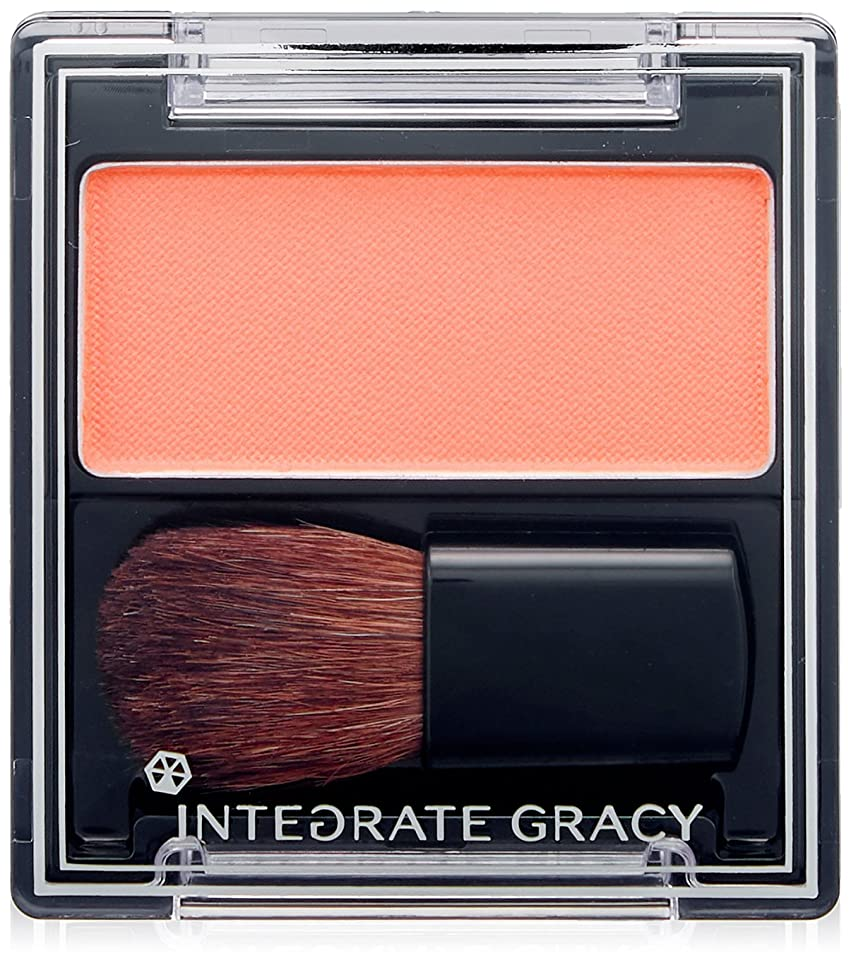 あたたかい眉をひそめる通り抜けるインテグレート グレイシィ チークカラー オレンジ300 2g