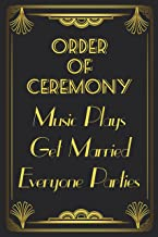 The Great Gatsby Art Deco Wedding Order of Ceremony Sign