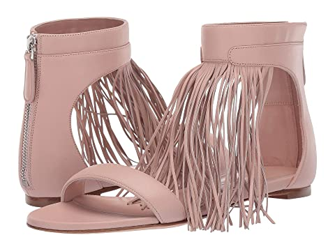 Alexander McQueen Flat Leather Sandal with Fringe Detail