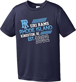 NCAA Rhode Island Rams Youth Boys Offsides Short sleeve Polyester Competitor T-Shirt, Youth X-Large,Navy