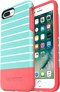 OtterBox SYMMETRY SERIES Case for iPhone 8 Plus & iPhone 7 Plus (ONLY) - Retail Packaging - AQUA MINT DIP (AQUA MINT/CANDY PINK/AQUA MINT DIP GRAPHIC)