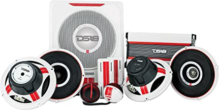 DS18 SQ4 Complete 10 Piece Sound Quality 5 - Way Component Set Amplifier and OFC Installation Kit Included