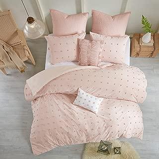 Urban Habitat Brooklyn Cotton Jacquard Duvet Cover Set Pink Full/Queen