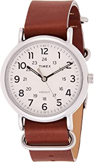 Timex Mens Quartz Watch, Analog Display And Leather Strap - T2P495