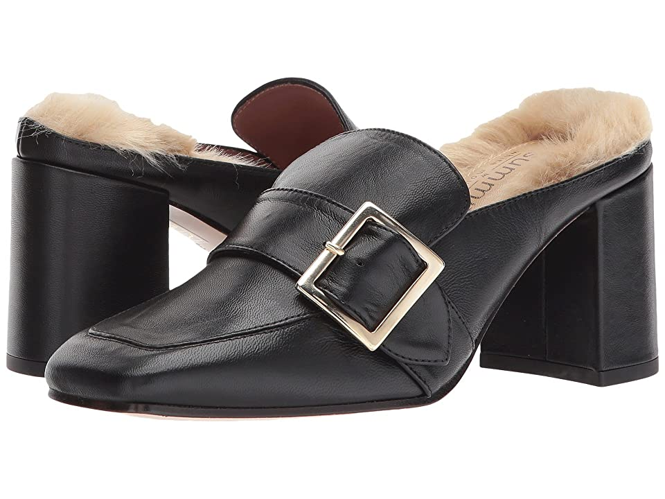 Summit by White Mountain Macey (Black Leather/Fur) Women