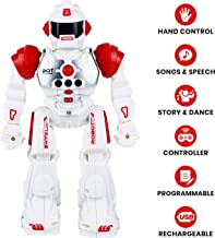 Boley 2099 RC Remote Controlled Robot for Kids - Intelligent Programmable with Infrared Controller Toys, Dancing, Singing, Talking Robot Friend Kids - Red