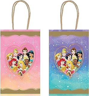 حقائب كرافت للحفلات المتنوعة «اميرة ديزني»، ارتفاع 8.25 انش× 5.25 انش 8 قطع.