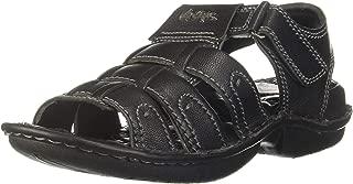 Lee Cooper Men's Lc1966bblack Leather Outdoor Sandals
