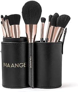 Makeup Brushes 10PCs Makeup Brush Set Premium Synthetic Foundation Brush Blending Face Powder Blush Concealers Eye Shadows Blush Makeup Brushes with Holder Set (Rose Golden)