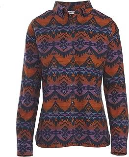 Women's Keystone Printed Chamois Shirt, Deep Indigo Multi (Blue)