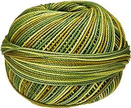 Handy Hands Lizbeth Egyptian Cotton Crochet, Tatting, Knitting Thread Size 3 (50 Grams 120 Yards) – HH03138, Leafy Greens
