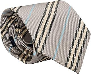 d6019dc8f6d5 Burberry Woven Ribbed Jacquard Pattern Wide Cut Mens Silk Necktie