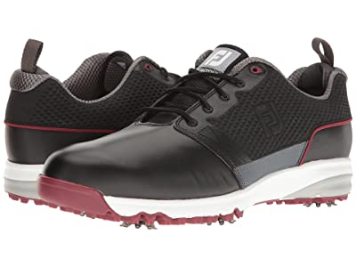 FootJoy Contour FIT Cleated Plain Toe (Black) Men