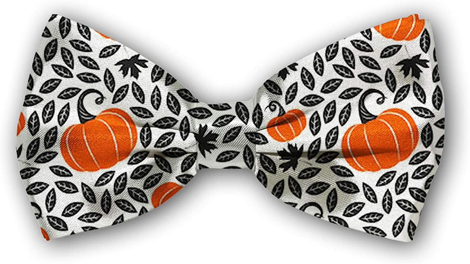 Bow Tie Tuxedo Butterfly Cotton Adjustable Bowtie for Mens, Boys and Pets[pumpkins]