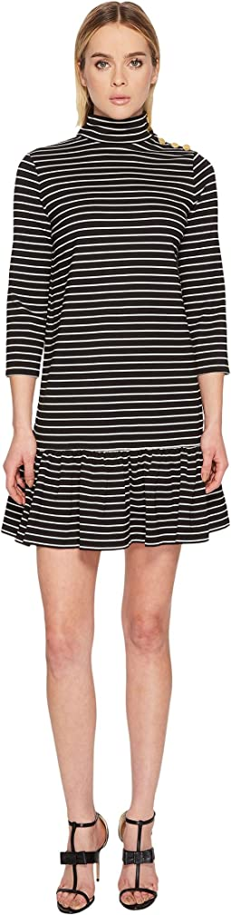 Kate Spade New York - Mock Neck Stripe Knit Dress