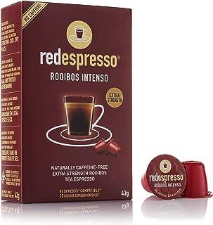 Red Rooibos Tea - Red Espresso - Intenso Rooibos Tea Capsules - Nespresso Compatible - 10 Capsules - Vegan, Non GMO, Organic, Antioxidant, Age-Defying (Intenso)