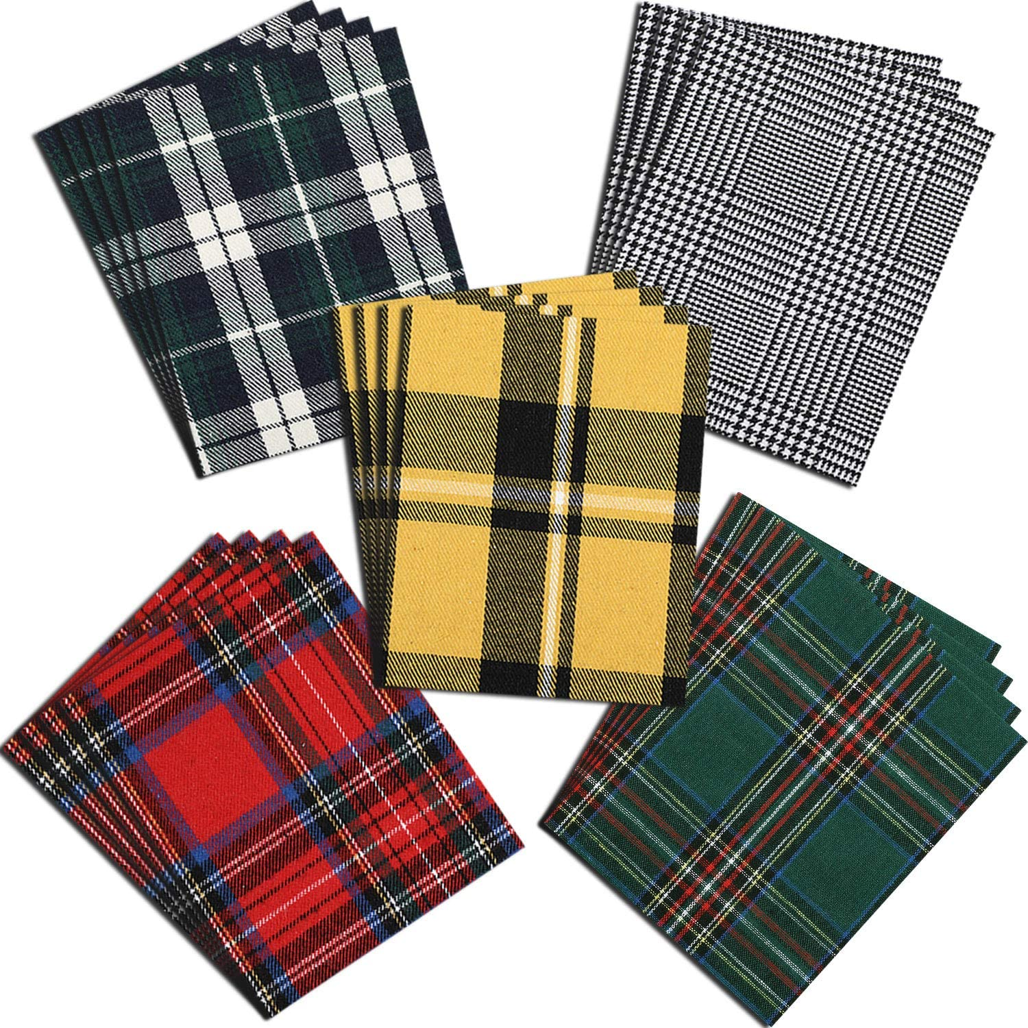 Super beauty product restock quality top! Tampa Mall 20 Pieces Iron-on Plaid Hea Patches Buffalo Fabric