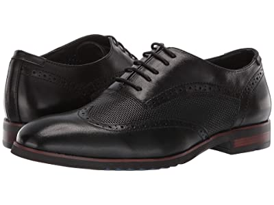 Steve Madden Langdon (Black Leather) Men