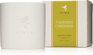 Thymes Mandarin Coriander Poured Candle Ceramic—Updated Design (Bird Changed from Orange Label to White Embossed)