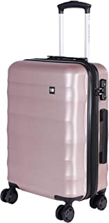 1ef3a9352 Nasher Miles Rome Expander| Hard Side Cabin Luggage| Rose Gold 20 Inch/55CM