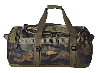 The North Face Base Camp Duffel Large (Burnt Olive Green Waxed Camo Print/Burnt Olive Green) Duffel Bags