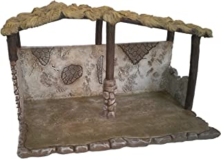 Faithful Treasure Christmas Nativity Stable, Exclusively Designed and Hand Painted Polyresin Nativity Scene Shed (Inside Dimensions: 6